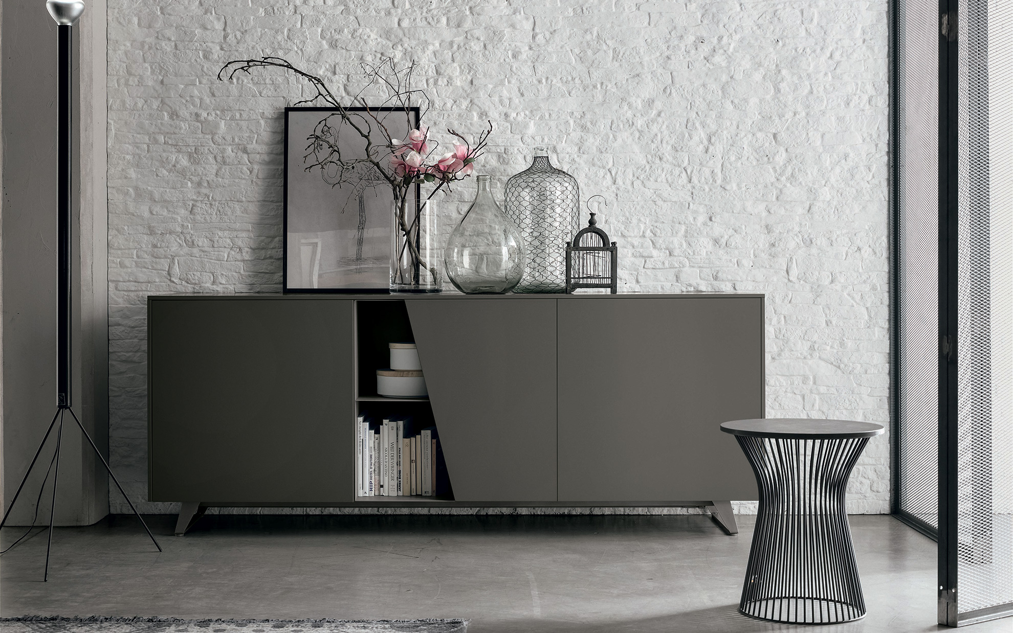 Madie e credenze moderne perfect amalfi contenitore for Madie design online